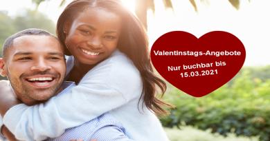 Valentinstags – Angebote für Sie